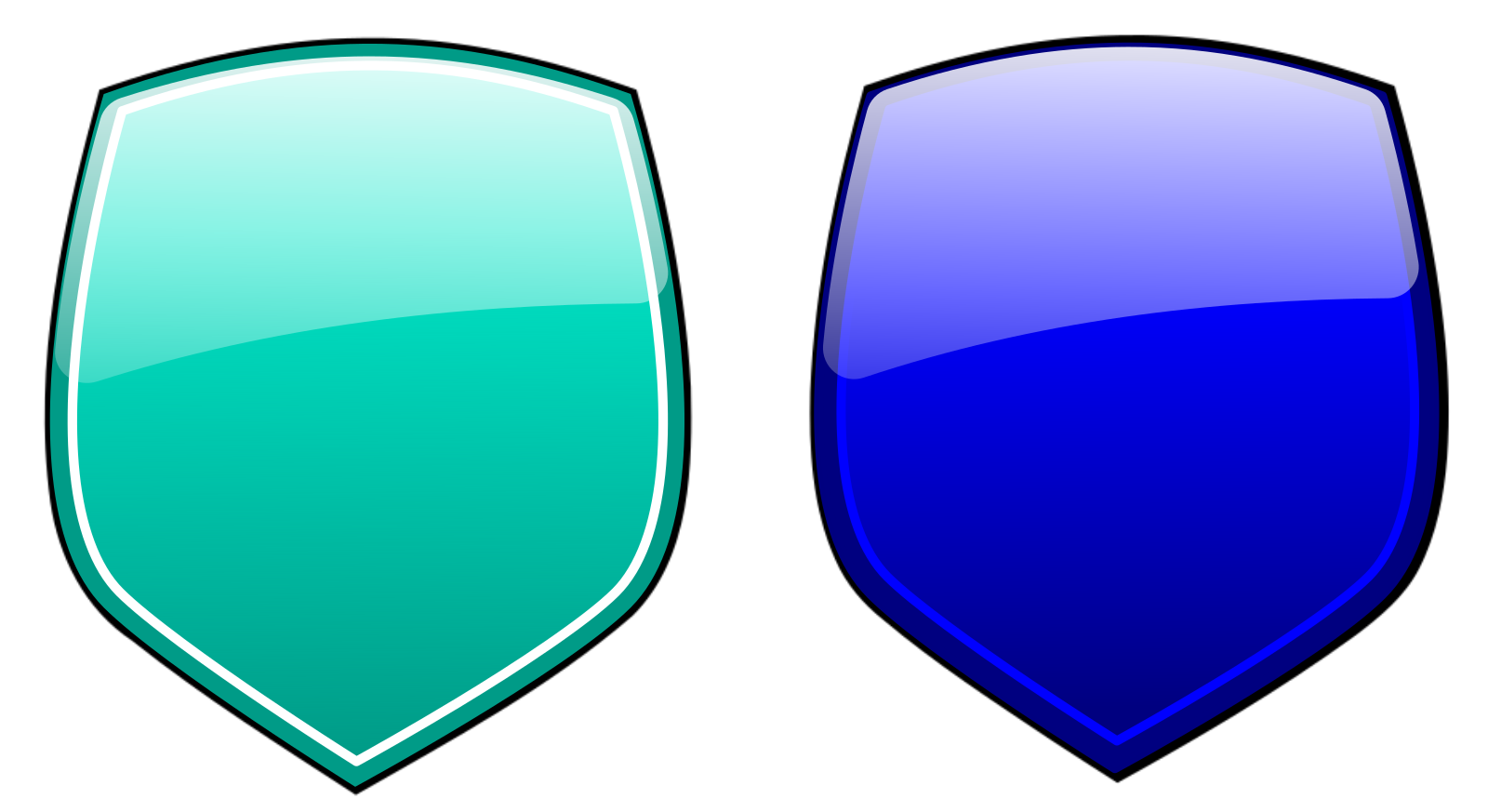 Harley Mc Gold And Blue SVG Clip arts