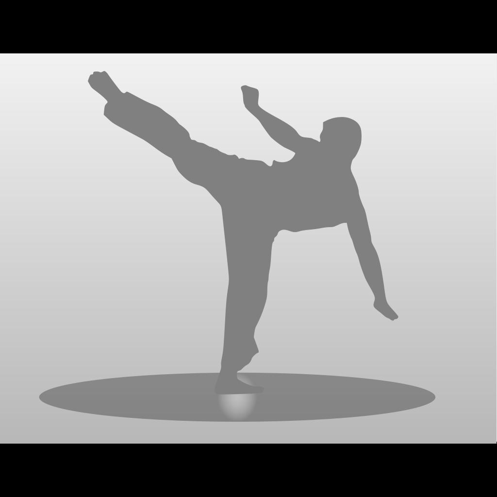 Karate Kick SVG Clip arts