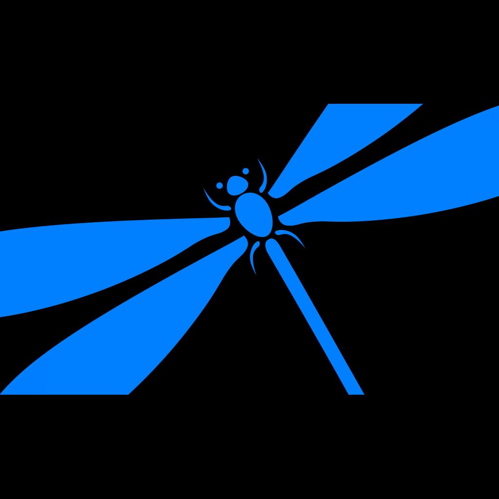 Dragonfly In Flight SVG Clip arts