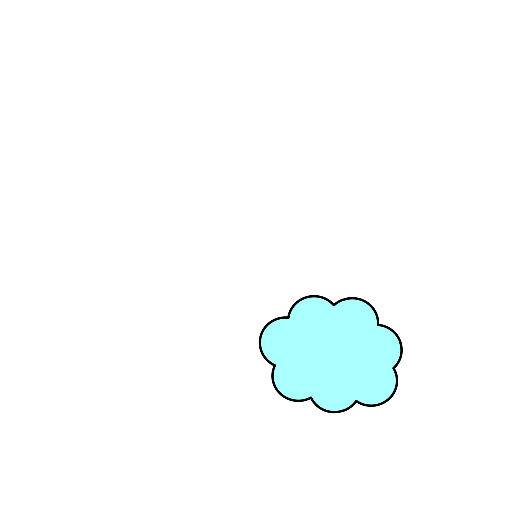 Small Light Blue Cloud SVG Clip arts