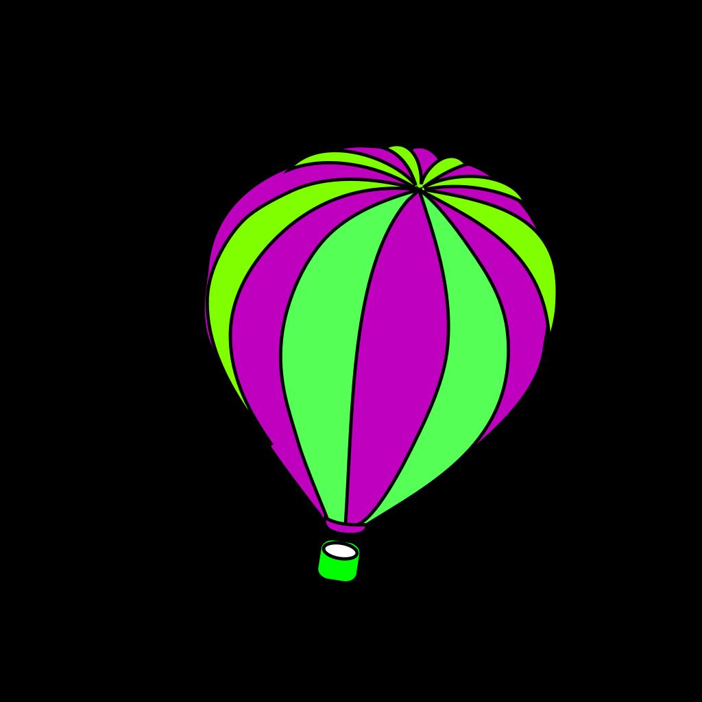 Hot Air Balloon Grey SVG Clip arts