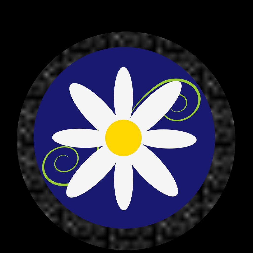Daisy Polka Dot SVG Clip arts