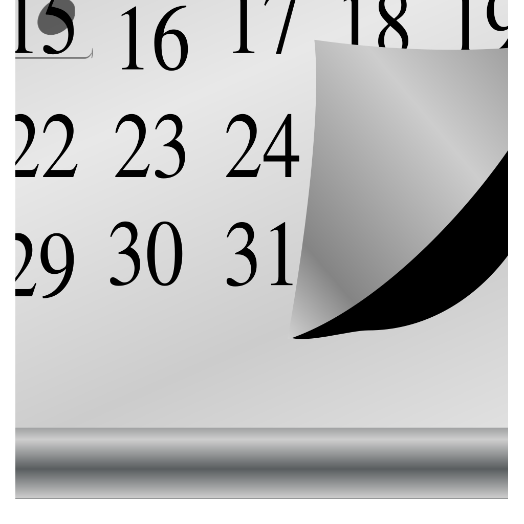 Calendar Larger SVG Clip arts