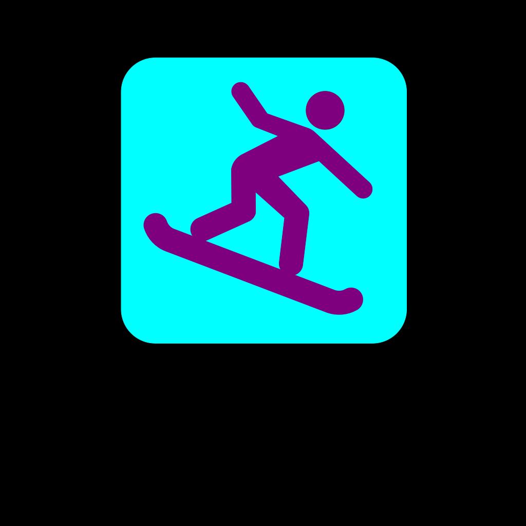 Snowboarding Icon SVG Clip arts