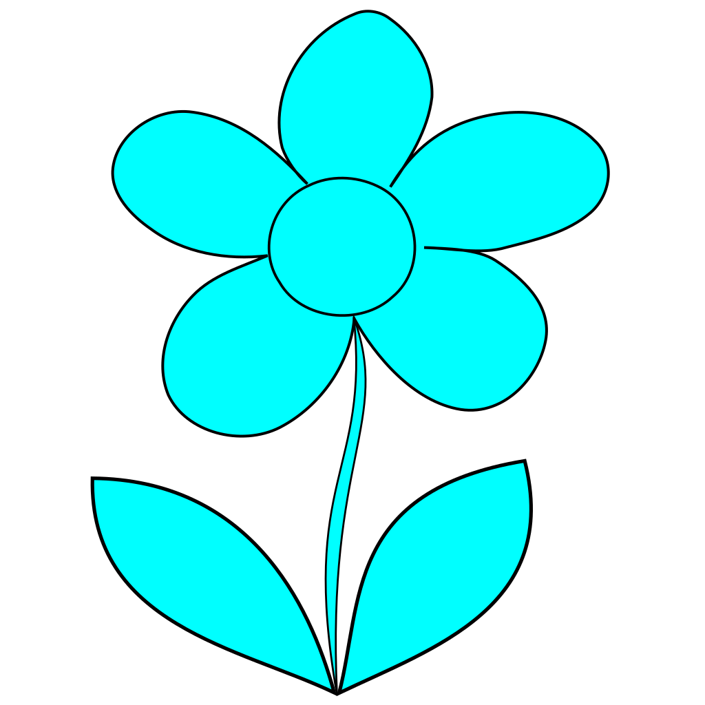 Murray Blue Flower SVG Clip arts