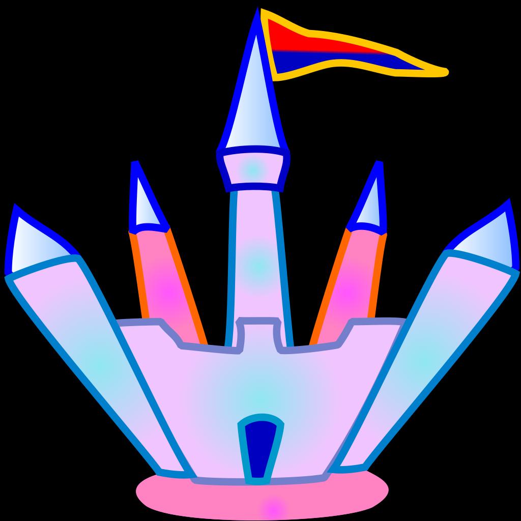 Blue And Pink Crystal Castle SVG Clip arts