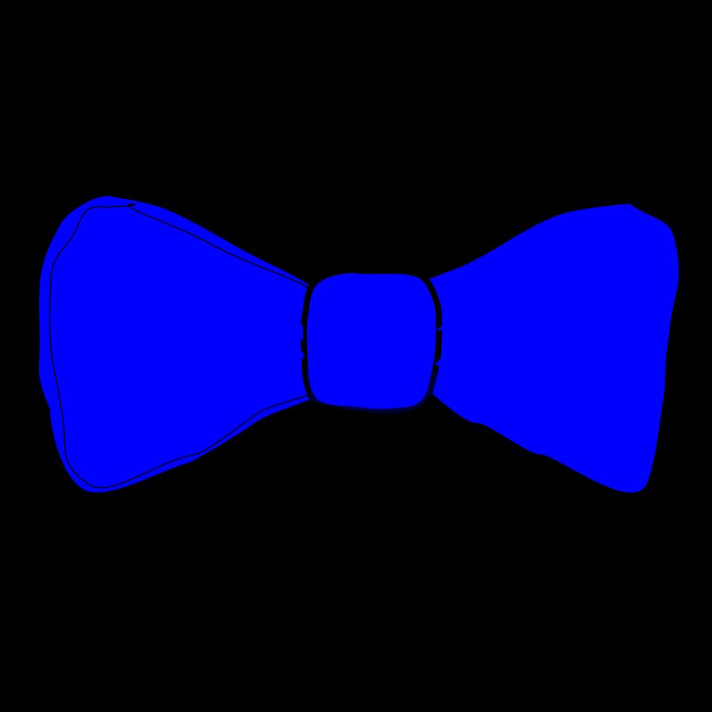 Blue Bowtie SVG Clip arts