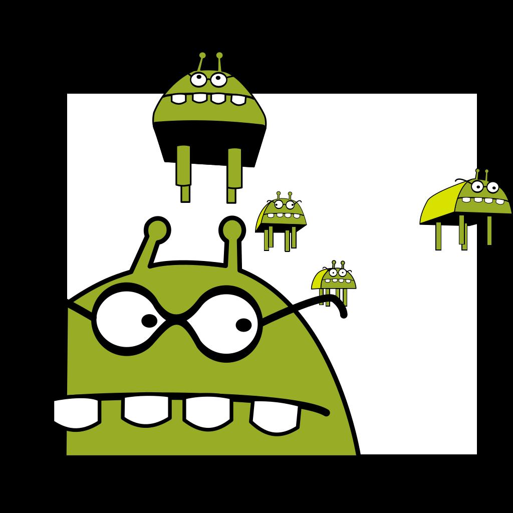 Alien SVG Clip arts