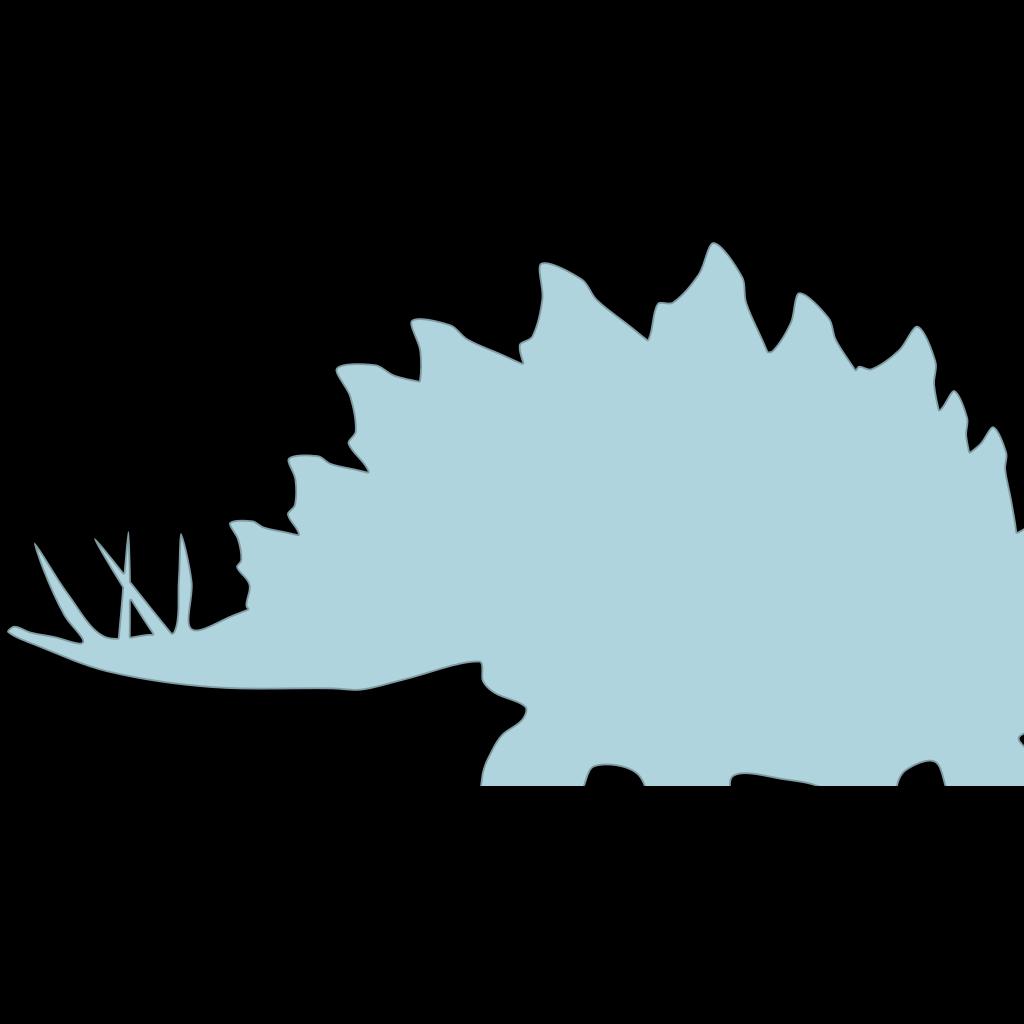 Blue Stegosaurus  SVG Clip arts
