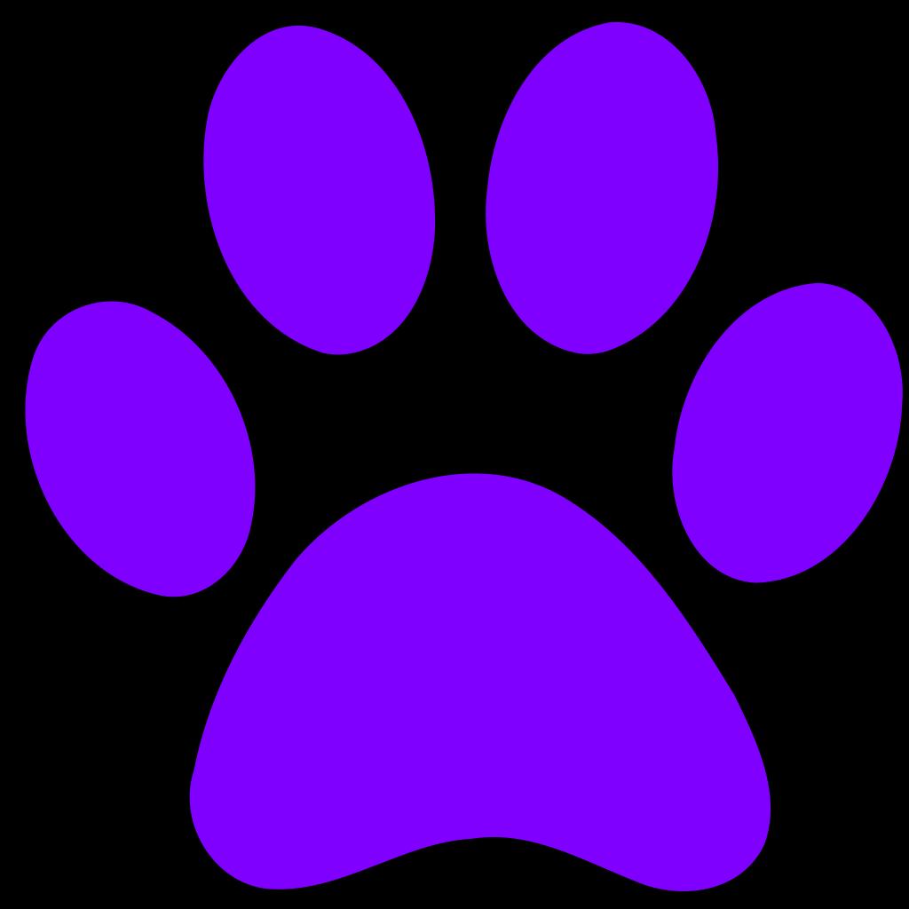 Blues Clues Purple Paw SVG Clip arts