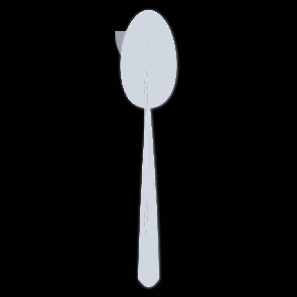 Blue Spoon Silhouette SVG Clip arts