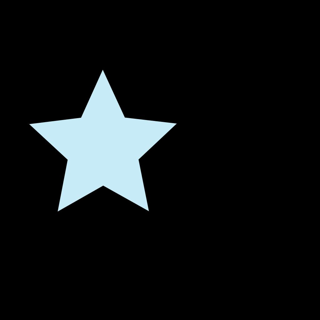 Light Blue Star SVG Clip arts