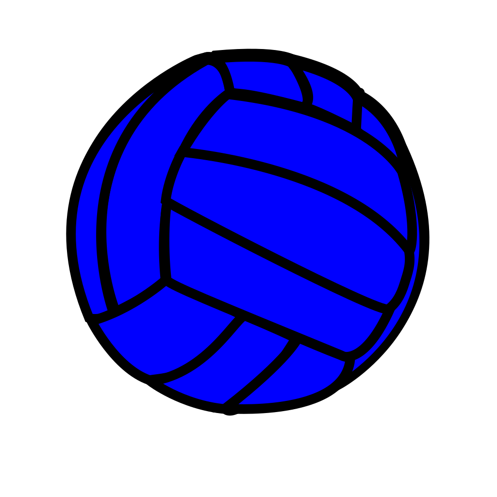 Blue Volleyball SVG Clip arts