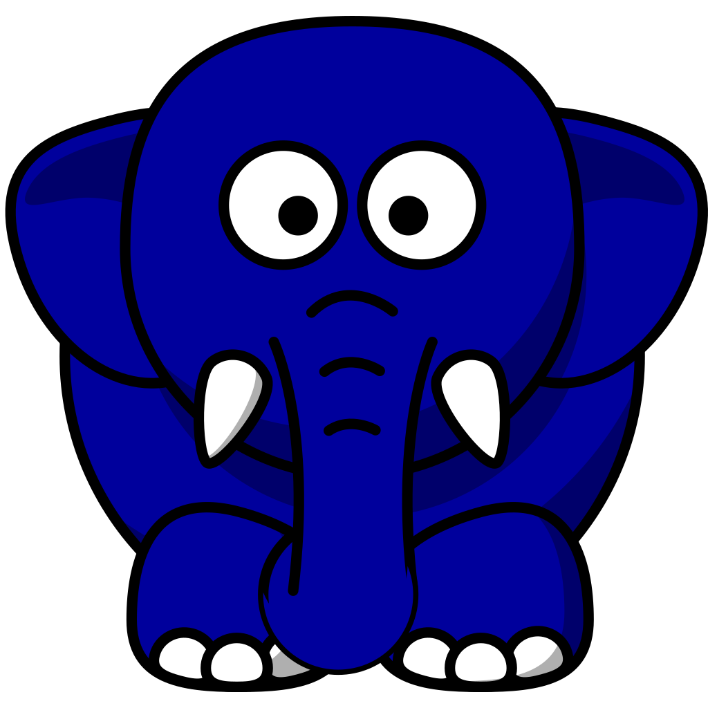 Kansas Blue Elephant SVG Clip arts