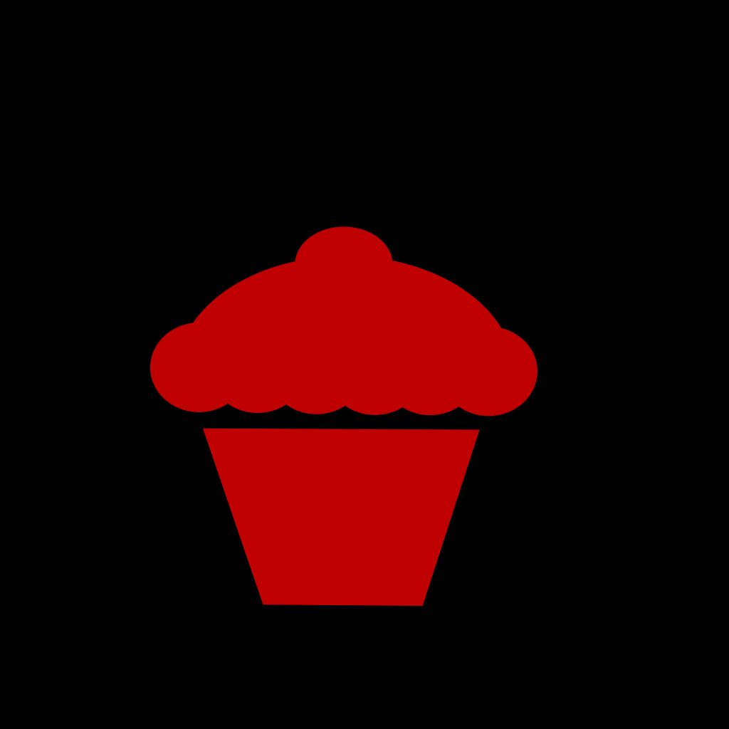 Blue Cupcake SVG Clip arts