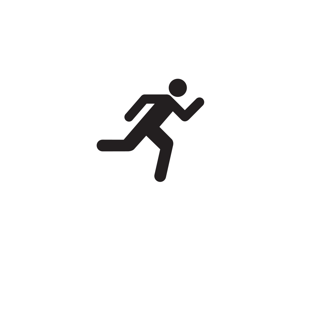 Running Icon On Transparent Background SVG Clip arts