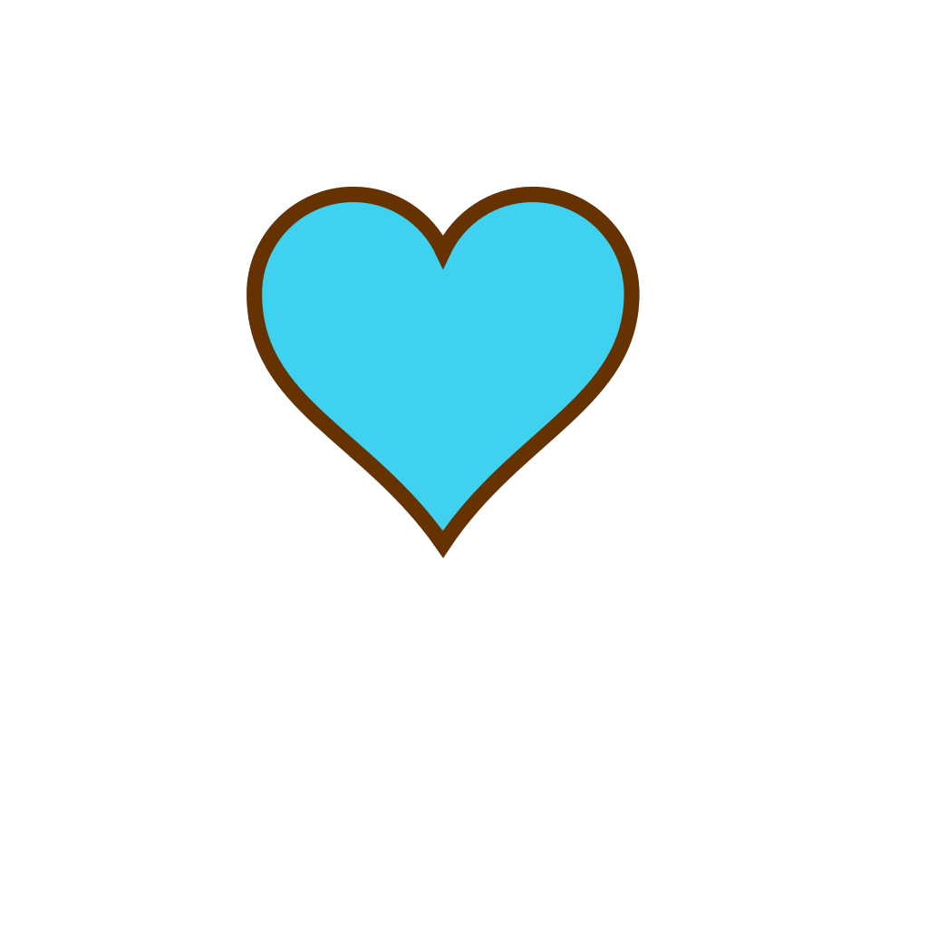 Blue And Brown Heart SVG Clip arts