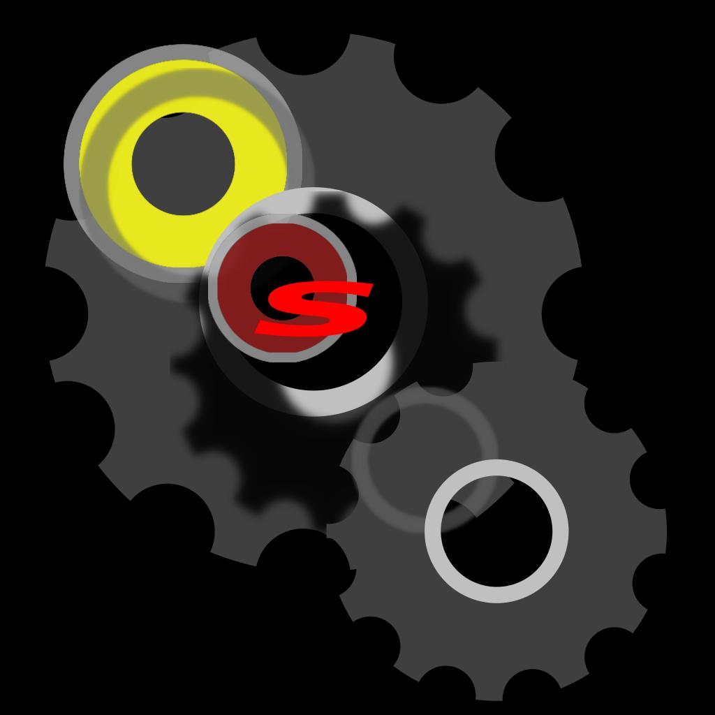Blue Gear Wheel SVG Clip arts