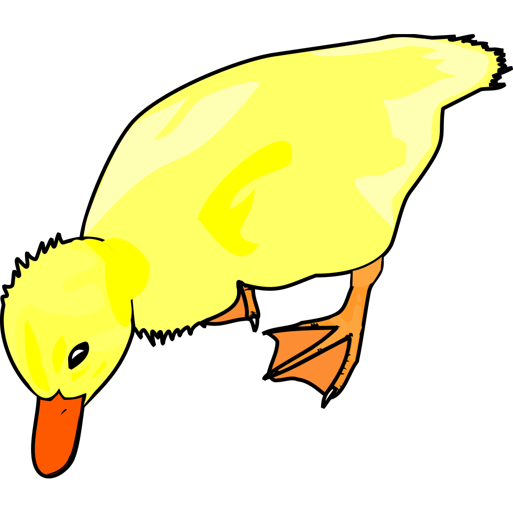 Chick Eating SVG Clip arts