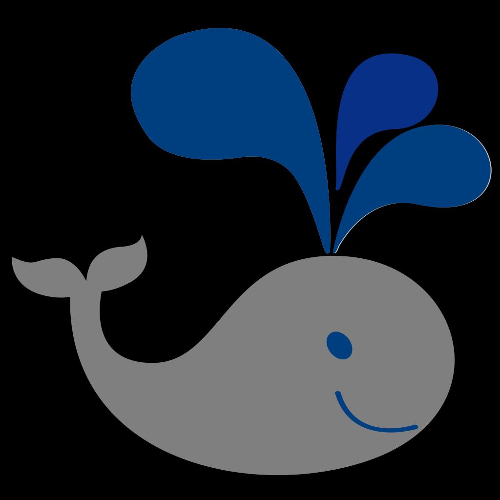 Blue Grey Whale SVG Clip arts