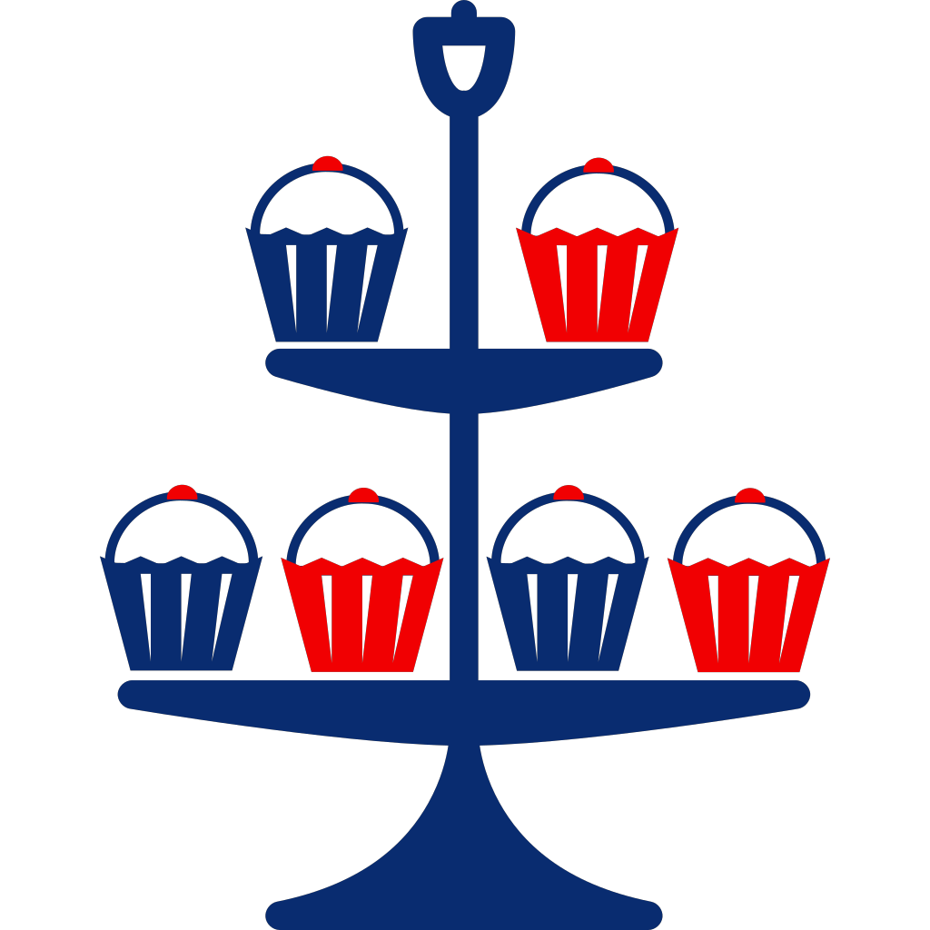 Cup Cake Stand SVG Clip arts
