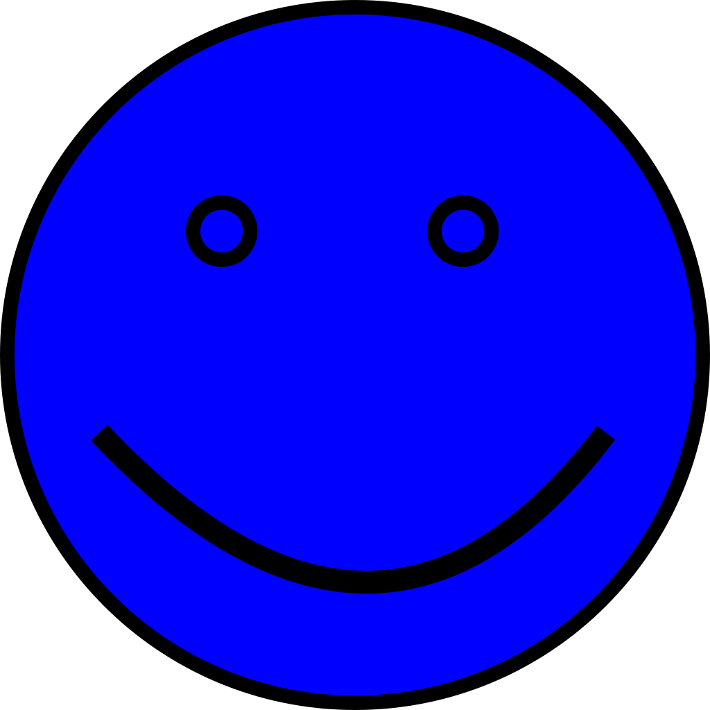 Blue Face SVG Clip arts