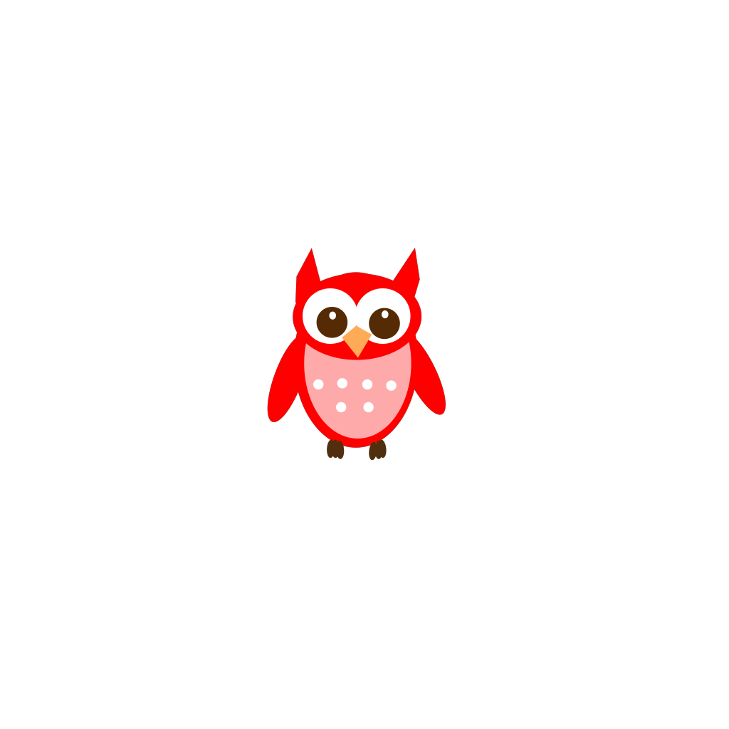 Red Owl SVG Clip arts