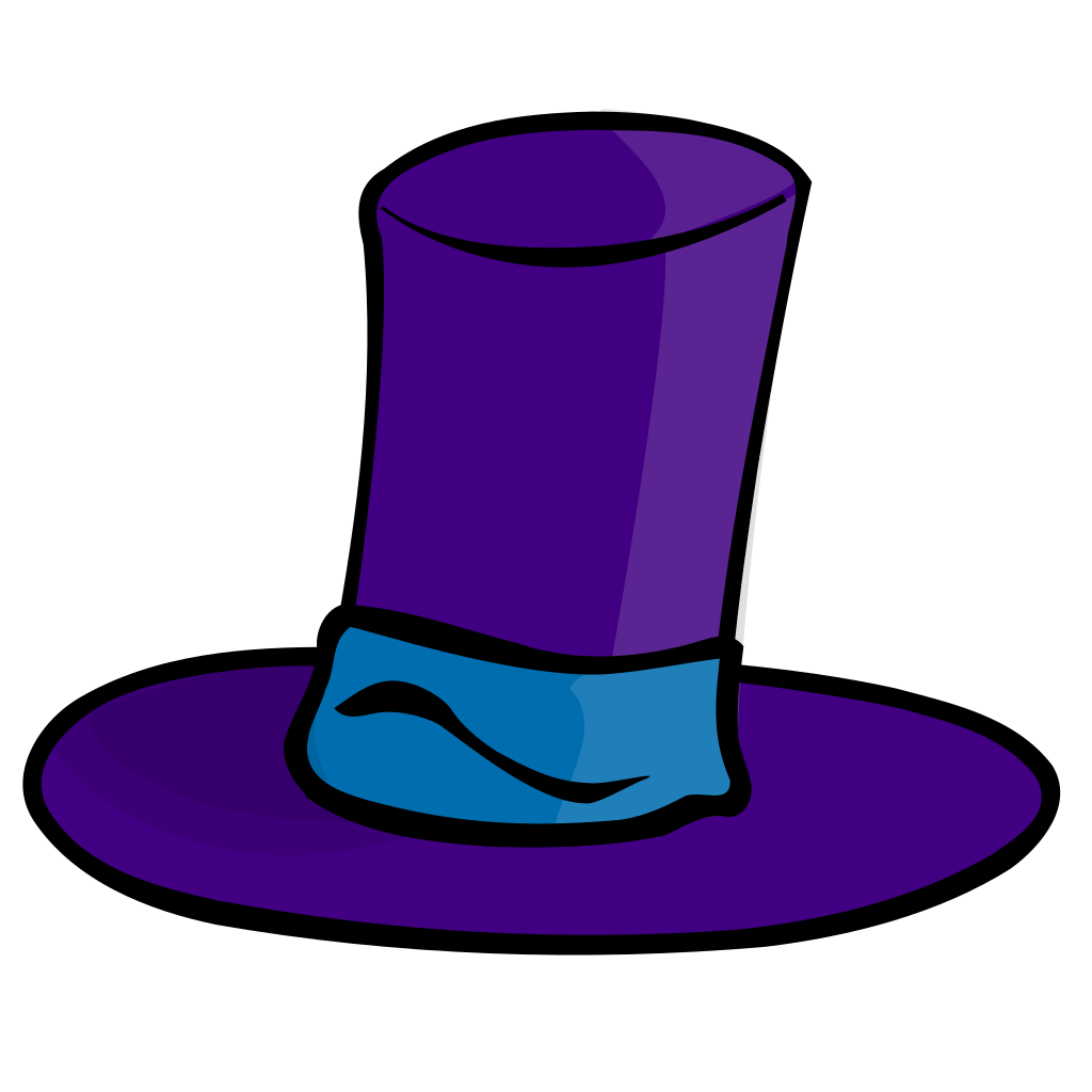 Purple Top Hat SVG Clip arts