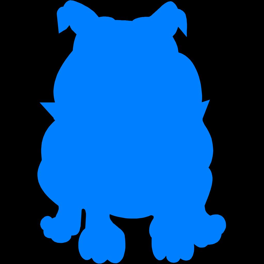 Bulldog blue. Png svg clip art