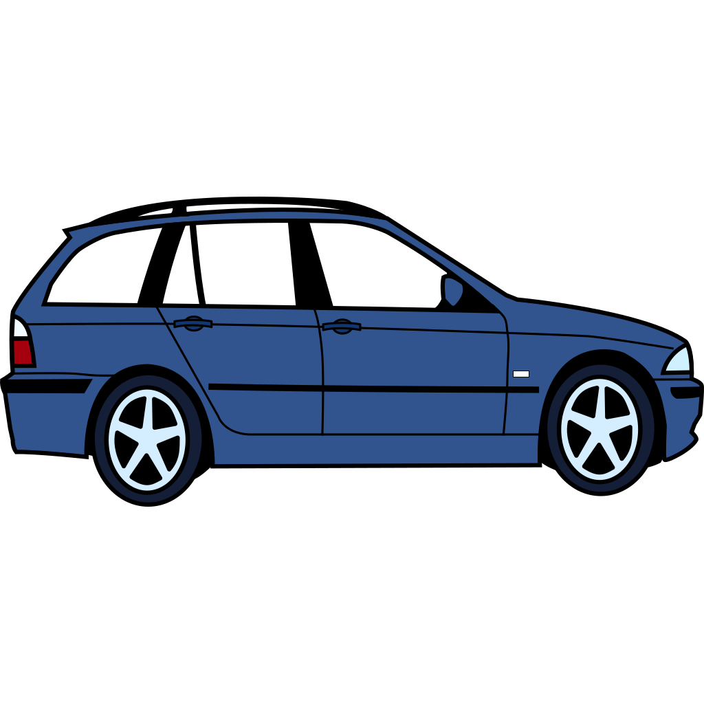 Bmw Side View SVG Clip arts