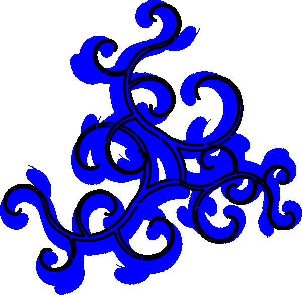 Swirls Blue SVG Clip arts