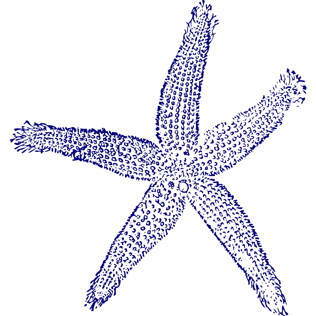 Maehr Starfish Wedding SVG Clip arts