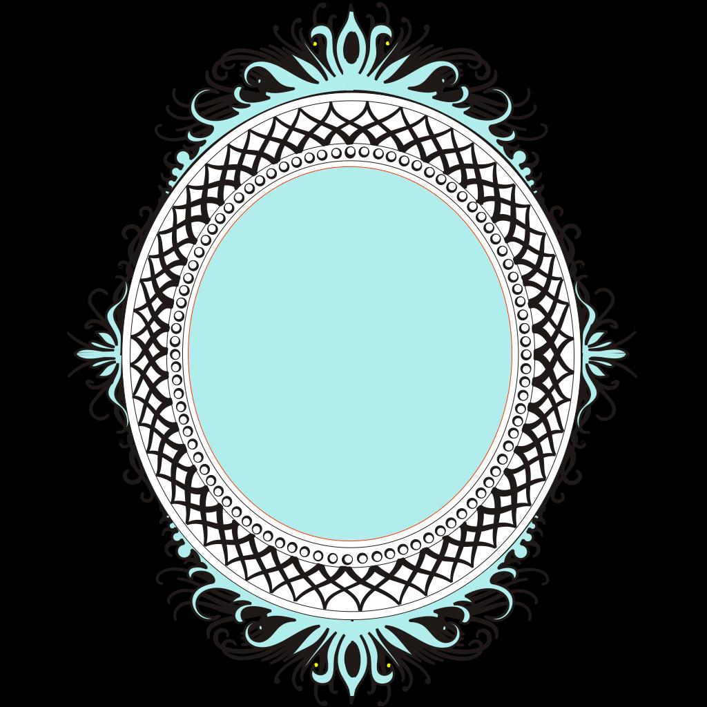 Oval Orange Blue Filled SVG Clip arts