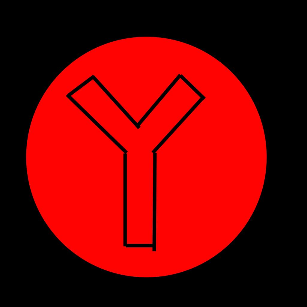 Red Y SVG Clip arts