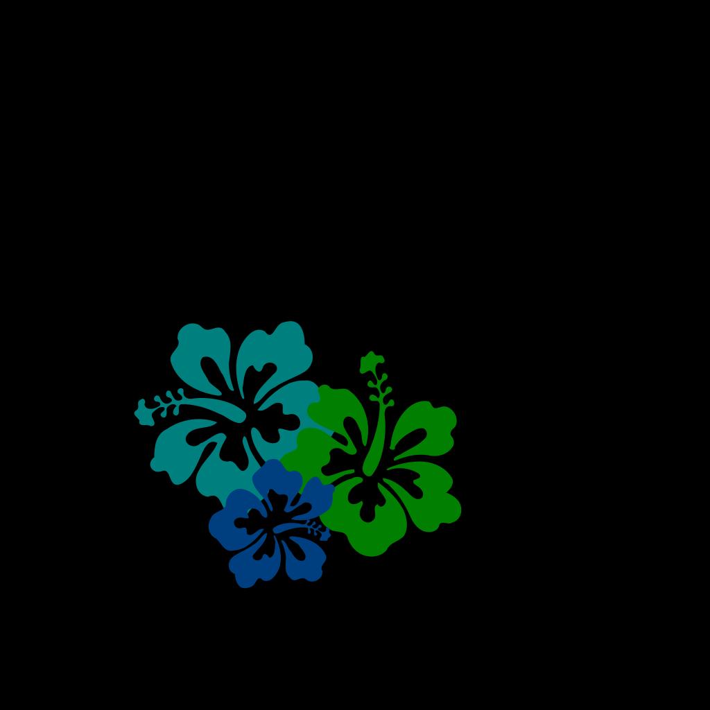 Hibiscus Line SVG Clip arts
