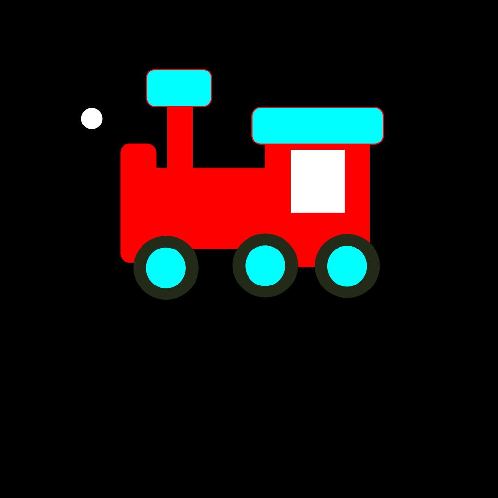 Red And Blue Choochoo SVG Clip arts