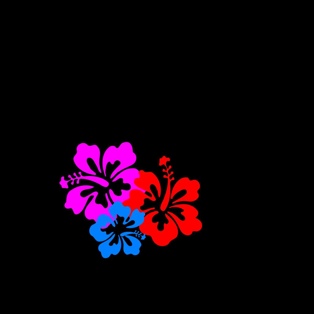 Hibiscus Blue SVG Clip arts