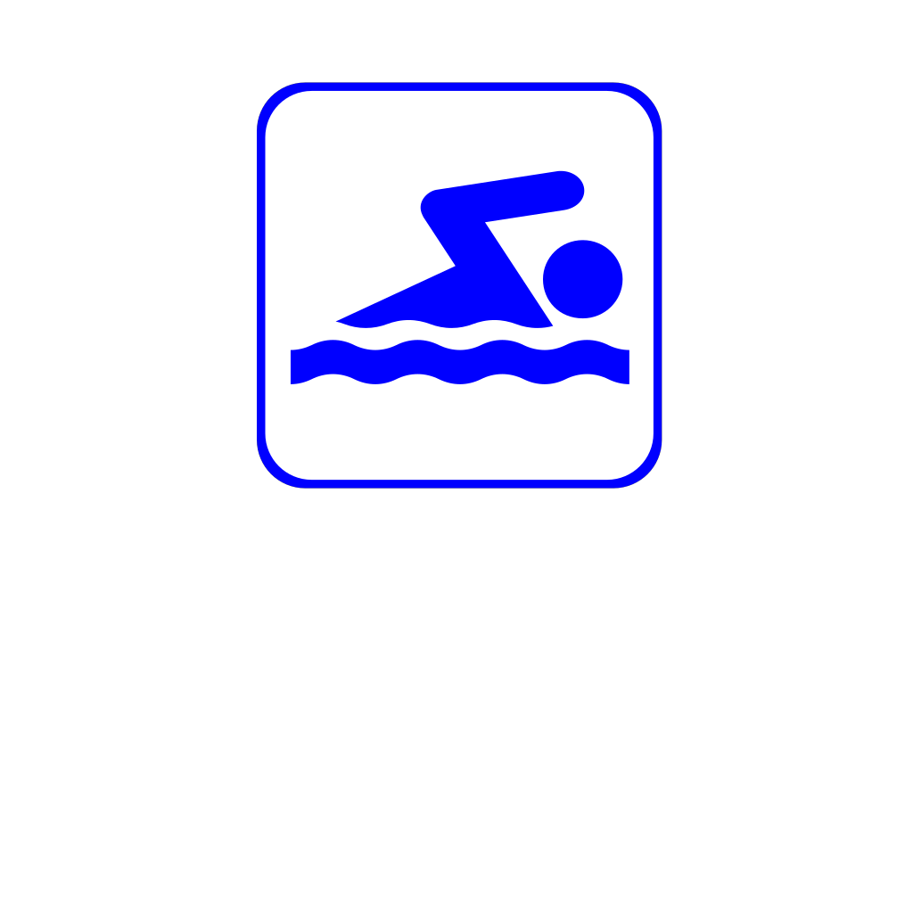 Swimming Icon Blue SVG Clip arts
