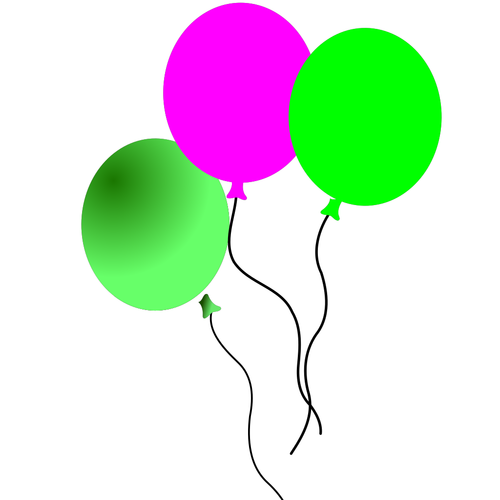 Party Balloons SVG Clip arts