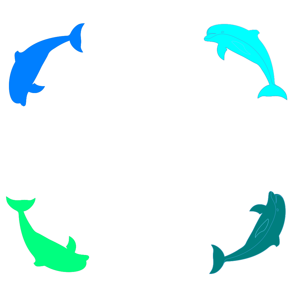 Dolphin Border SVG Clip arts