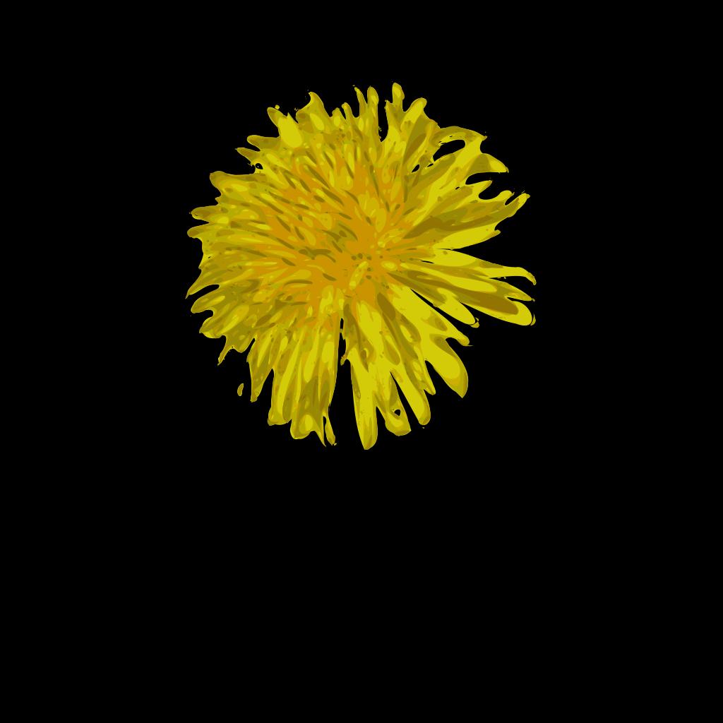 Dandelion Blue SVG Clip arts