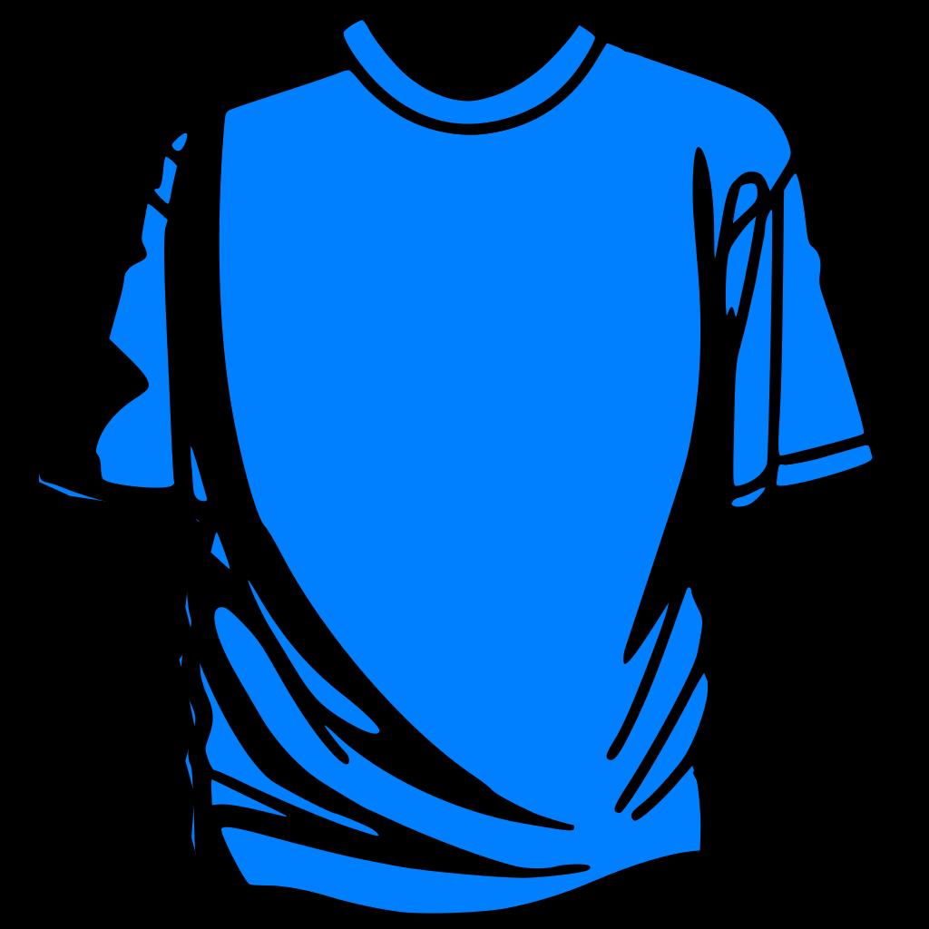 T-shirt Blue SVG Clip arts