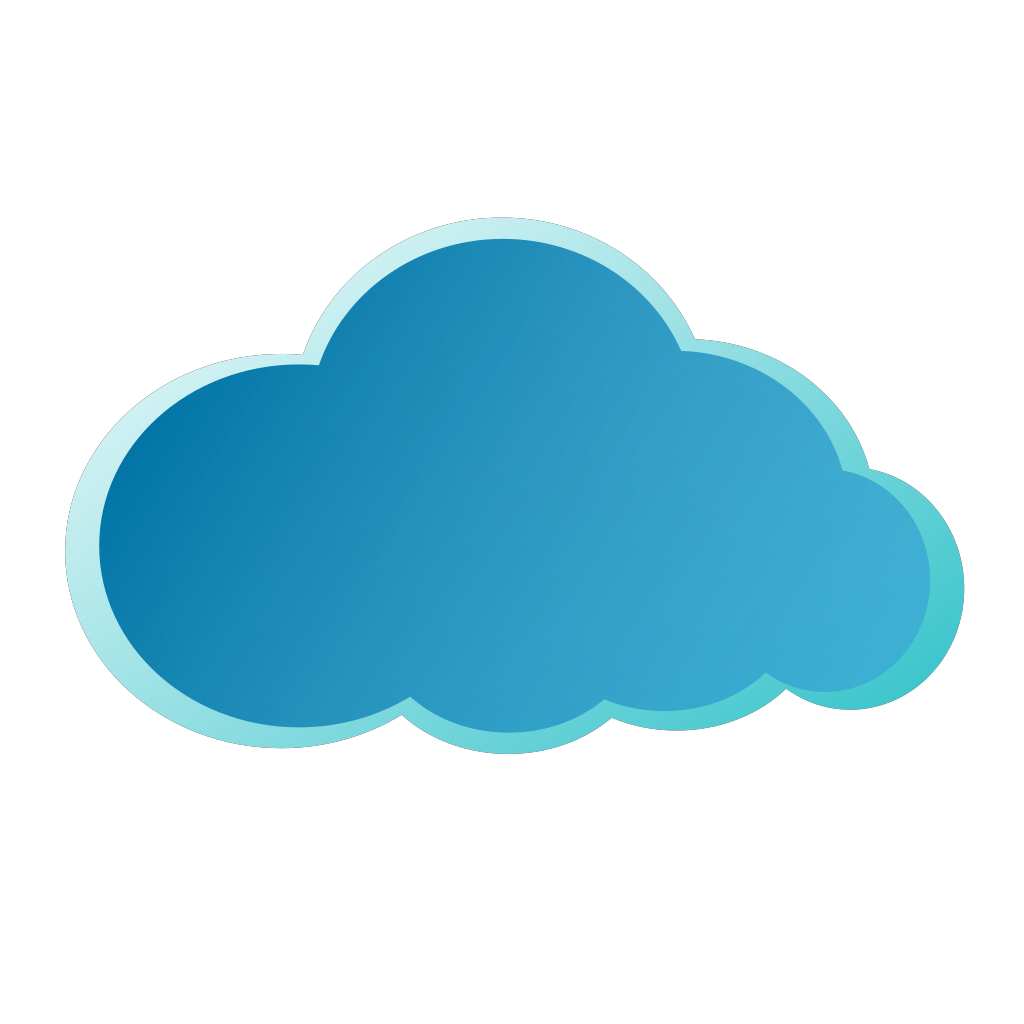 Blue Cloud SVG Clip arts