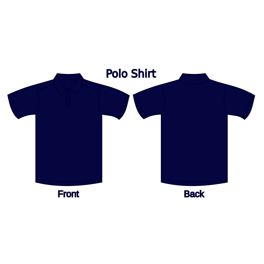 Polo Shirt (dark Blue) SVG Clip arts