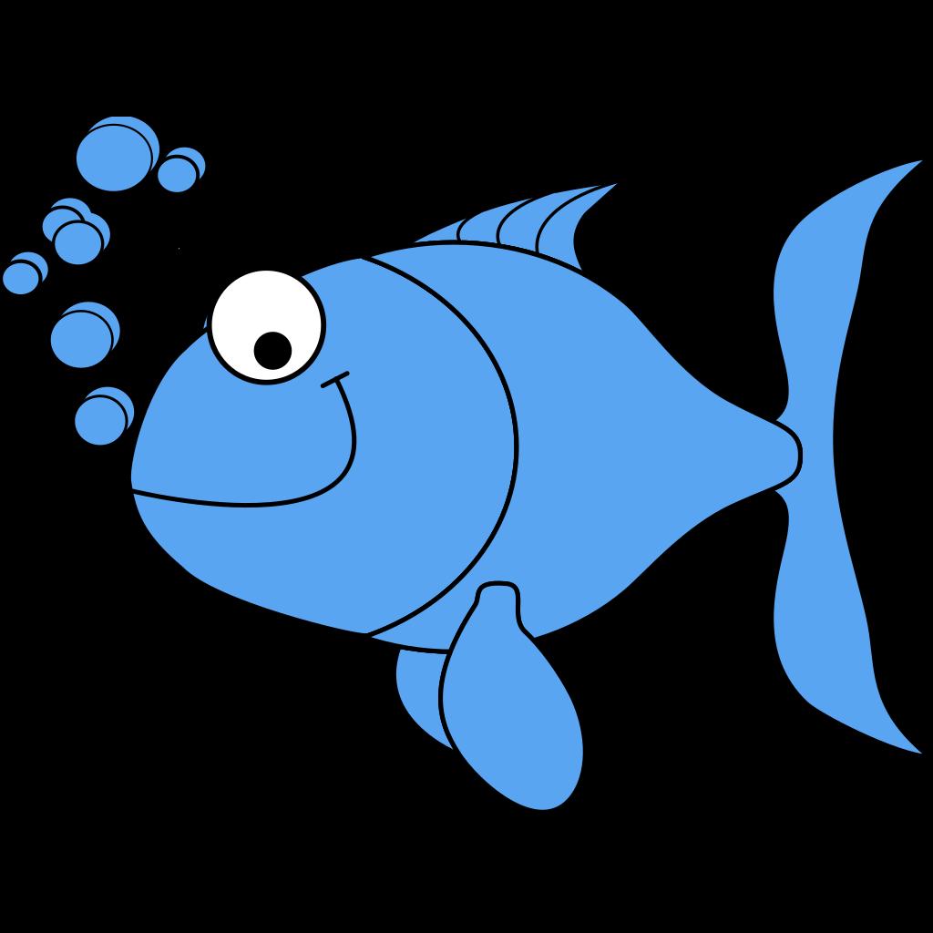 Light Blue Fish SVG Clip arts