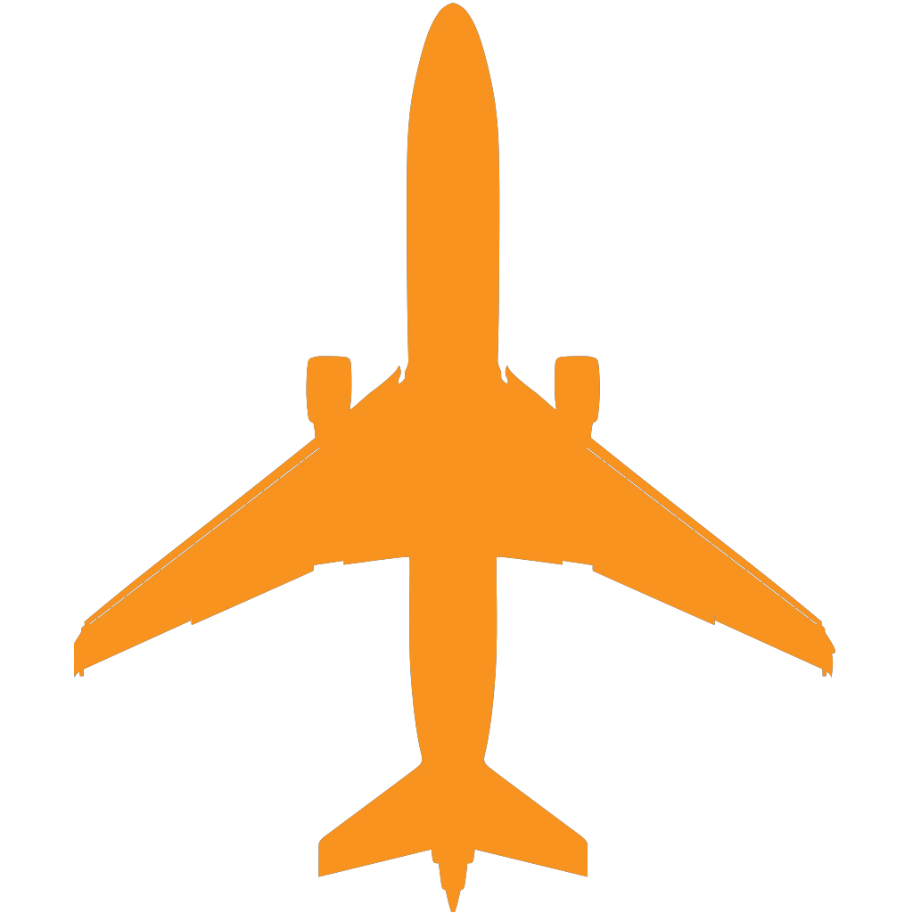 Boing Blue Freight Plane Icon SVG Clip arts