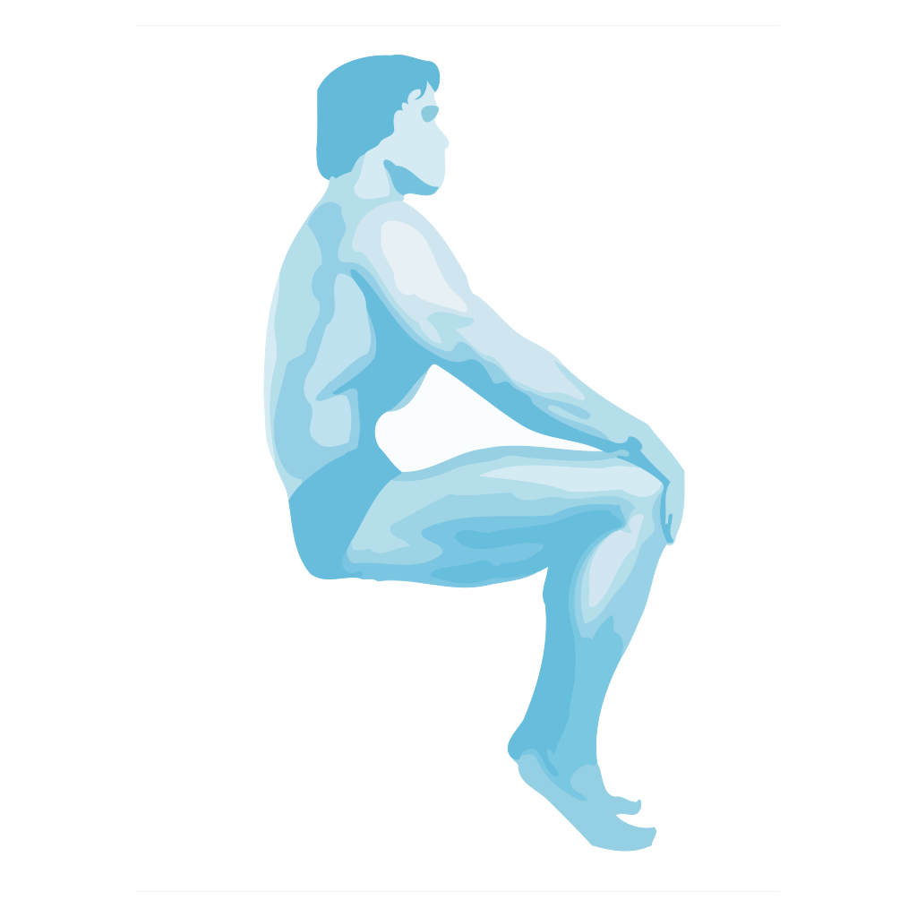 Sitting Body Builder SVG Clip arts