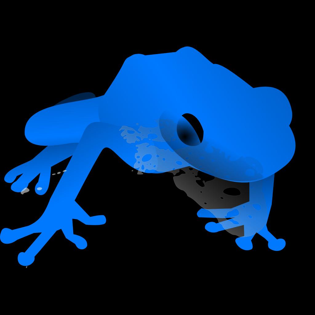 Endangered Blue Poison Dart Frog SVG Clip arts