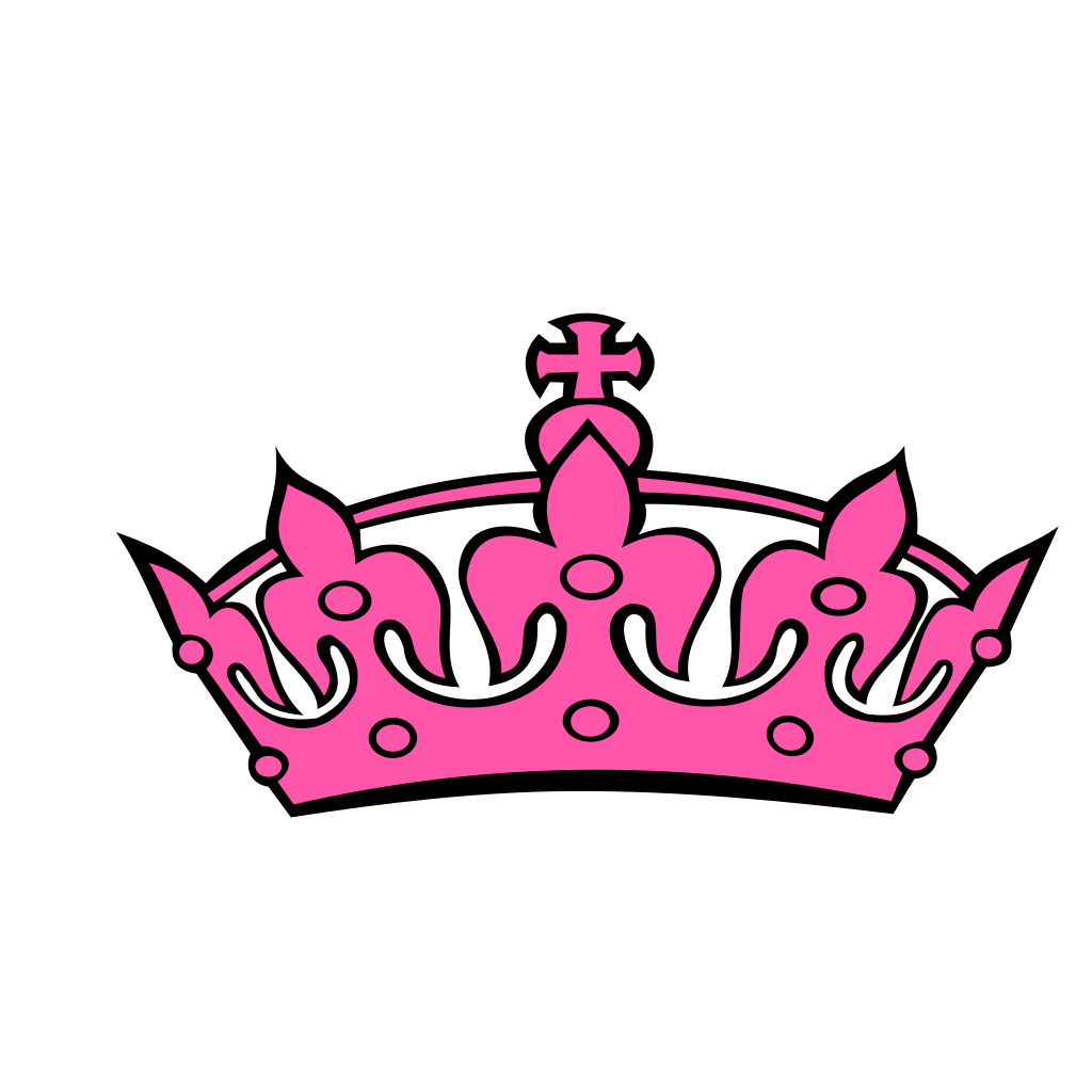 Pink Tilted Tiara And Number 26 SVG Clip arts