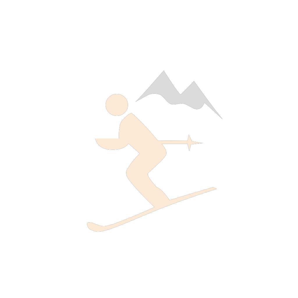 Skiing Santa SVG Clip arts